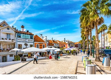 Cascais, Lisbon District, Portugal - October 15th 2019: Cascais, a Coastal Resort Town and Tourism Destination in the West of Lisbon, Known for its Sandy Beaches and Leisurely Lifestyle.