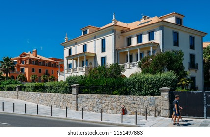 Cascais, Portugal - August 7th, 2018: Beautiful house in Cascais, Portugal.