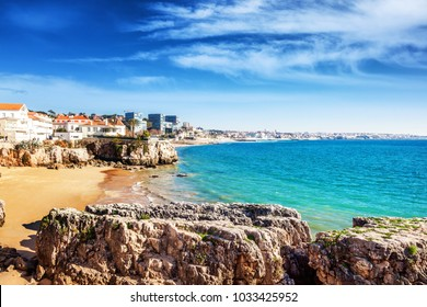 Cascais, Portugal, beautiful landscape, view of the sea and the city