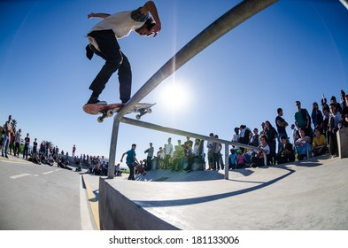 CASCAIS, PORTUGAL - MARCH 8 2014: Joao Allen during the Levi's Skateboarding Collection Event.