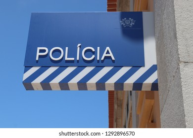 CASCAIS, PORTUGAL - MAY 21, 2018: Police station in Cascais, Portugal. The full name of the Portugese force is Public Security Police (PSP).