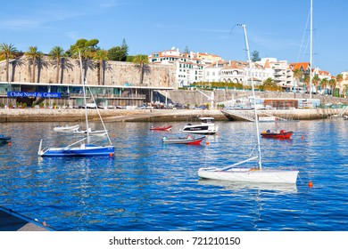 CASCAIS, PORTUGAL - SEPTEMBER 24 . 2017 . Yachts, sail boats and motorboats in marina