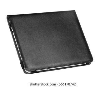 Case cover closed front for tablet on white background black