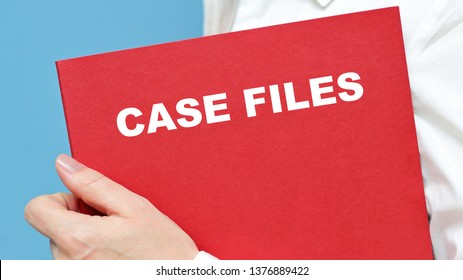 Case Files- briefcase with documents.