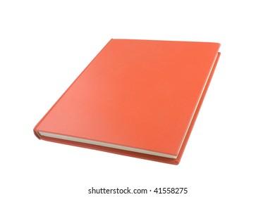 casebound hardback book isolated on a white background