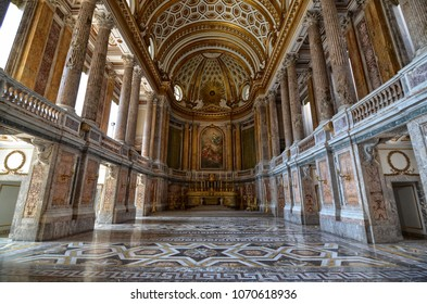 Caserta, Campania region, Italy August 22 2016. The splendid Royal Palace of Caserta, its interiors made with precious materials and perfectly preserved.
