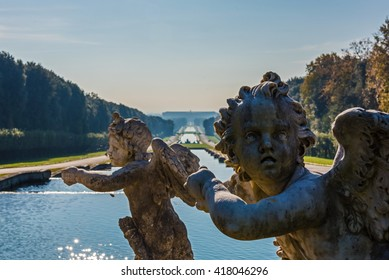 CASERTA, ITALY - 12 DECEMBER 2015 - The Royal Palace of Caserta (italian: Reggia di Caserta) is a former royal residence in Caserta with a very big garden and many fountains, by kings of Naples.