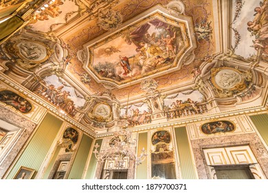 Caserta, Italy - Jul 31, 2020 - The Royal Palace of Caserta (Italian: Reggia di Caserta) is a royal residence in Caserta with a big garden, by kings of Naple