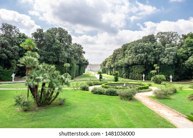 CASERTA, ITALY - JULY 12, 2019: 18th century Royal Palace of Caserta - former royal residence in Caserta of kings of Naples.