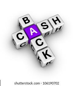 cash back label (cubes crossword series)