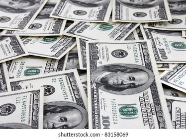 cash background (one hundred dollars banknotes)