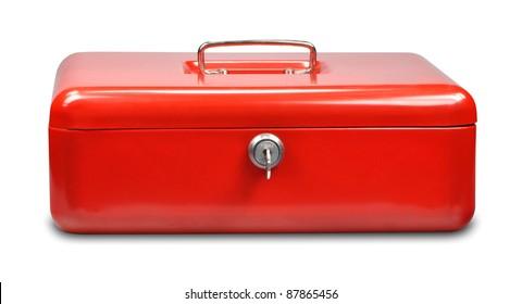 cash box on white background