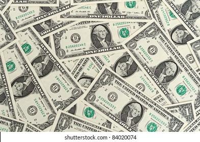 Cash dollar signs. Texture.