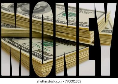 Cash dollars lying