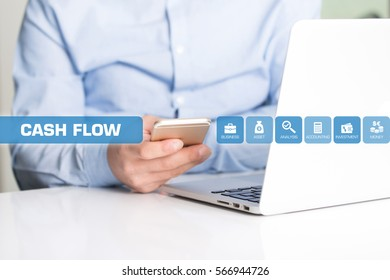 Cash Flow Concept with Icon Set