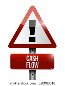 cash flow warning road sign concept illustration design graphic icon