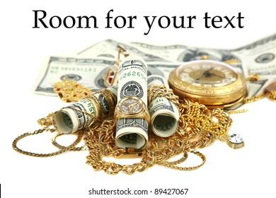 Gold Jewelry Money Images Stock Photos Vectors Shutterstock