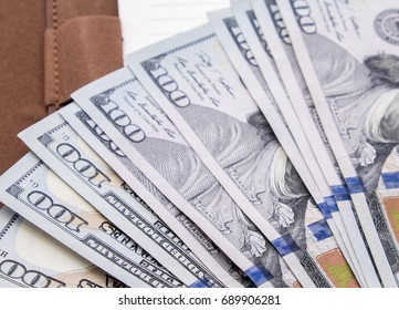 cash of hundred dollar bills , dollar background with high resolution