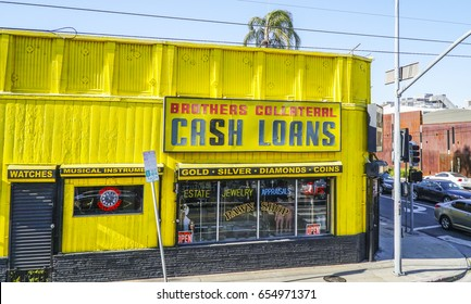 Cash and Loans in Los Angeles - LOS ANGELES / CALIFORNIA - APRIL 20, 2017