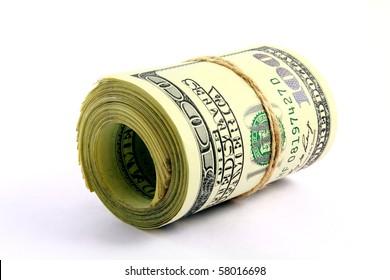 Cash on white background