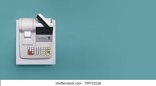 Cash register - Shutterstock ID 739713118
