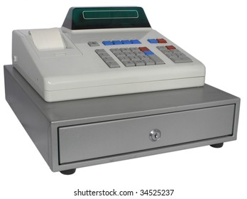 The cash register isolated with the display