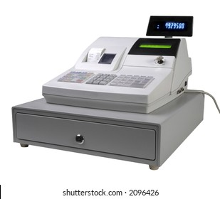 Cash register isolated with led display