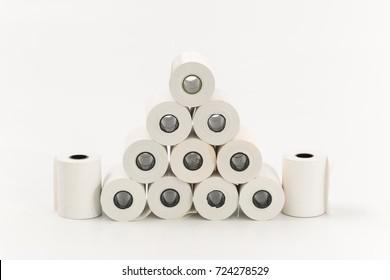 cash register tape on a white background.