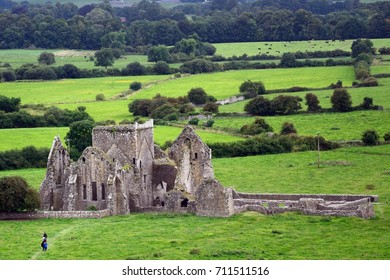 CASHEL, IRELAND - AUGUST 11: Hore Abbey on 11 August 2017 at Cashel. Hore Abbey is a ruines Cistercian monastery.