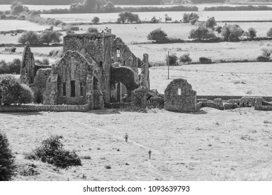 Cashel, Ireland -  Hore Abbey, also the Hoare Abbey, also known as St. Mary's, is a ruined Cistercian monastery near the Rock of Cashel
