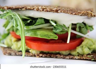 cashew mayo sandwich upclose