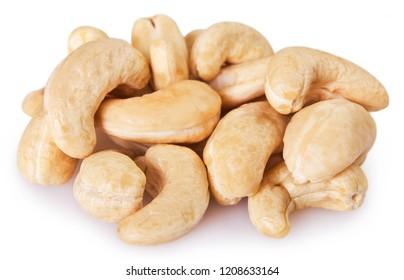 cashew nuts isolated on white background