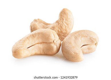 Cashew nuts isolated on white background. With clipping path.