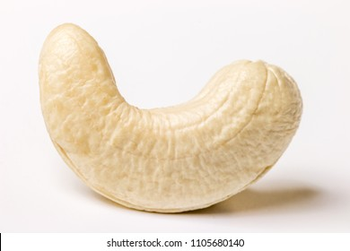 Cashew nuts on white background