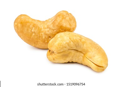 Cashews nuts isolated on white background. Clipping path.