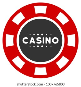 Casino Chip flat raster pictogram. An isolated icon on a white background.