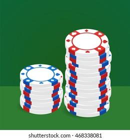 Casino chip pile