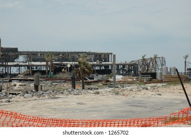 Casino Destroyed Biloxi Mississippi By Hurricane Stock Photo Edit