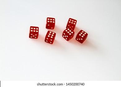 Casino dice isolated on white. set. isolate