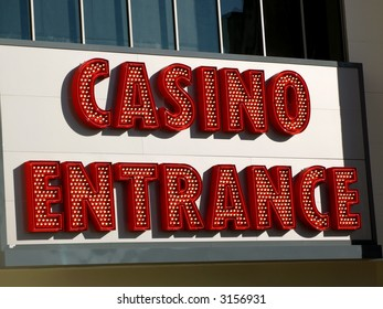 A casino entrance sign in Las Vegas, Nevada.