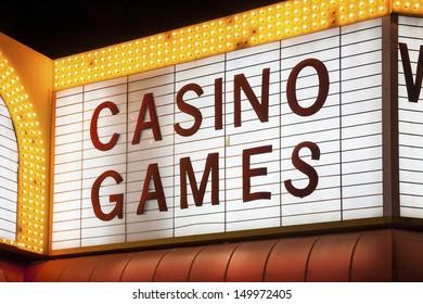 Casino Games Sign in Las Vegas, Nevada, USA