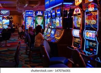 casino hall. Las Vegas, July 2019