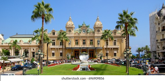Casino of Monte-Carlo in Monaco on the French Riviera