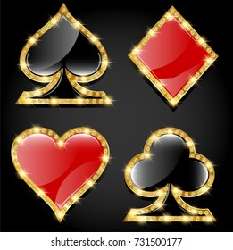 Casino playing card icons