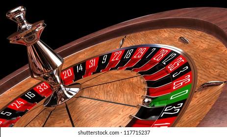 Casino roulette closeup - 3d render