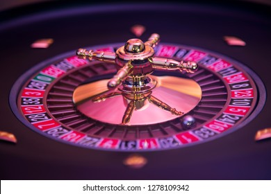 Casino roulette, running in a motion
