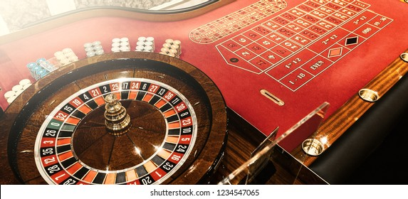 Casino roulette table background with flare effect