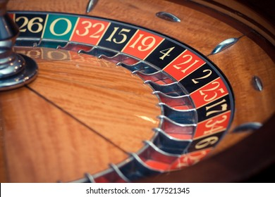 casino roulette without ball - colorized photo