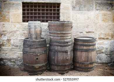 casks of wood and mud