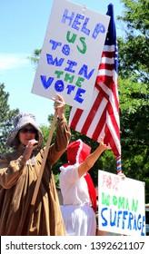 CASPER, WY. JULY 12, 2011. CIRCA: Women suffrage day demonstration day in Casper, Wyoming.